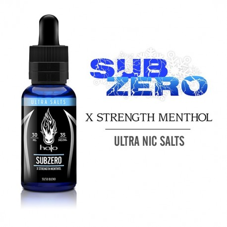 Halo Subzero Ultrasalts Nic Salts e liquid Australia and NZ