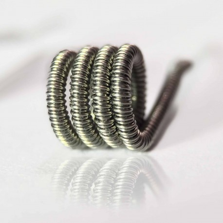 10pc of Kanthal A1 wired Clapton coil 0.6 Ohm with organic cotton